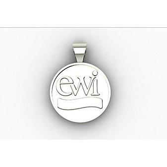 EWI 10K White Gold Charm
