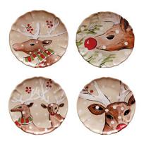 Casafina_Deer_Friends_Linen_Dinner_Plate,_Assorted