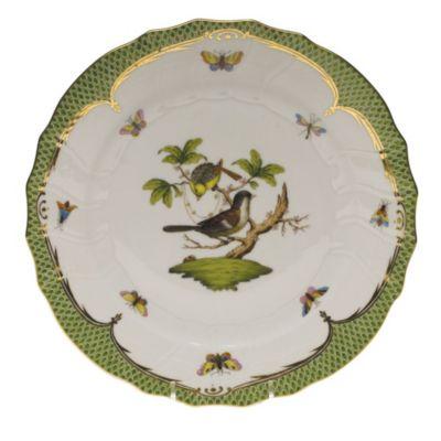 herend rothschild bird green border dinnerware
