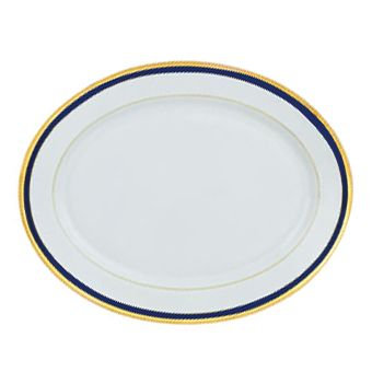 Haviland Symphonie Gold and Blue Dinnerware