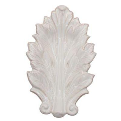 """Juliska Acanthus Whitewash 7"""" Leaf Tray"""