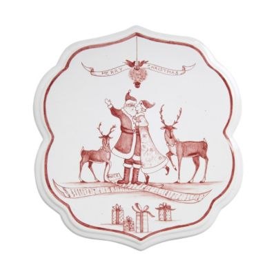Juliska Country Estate Winter Frolic Ruby Trivet