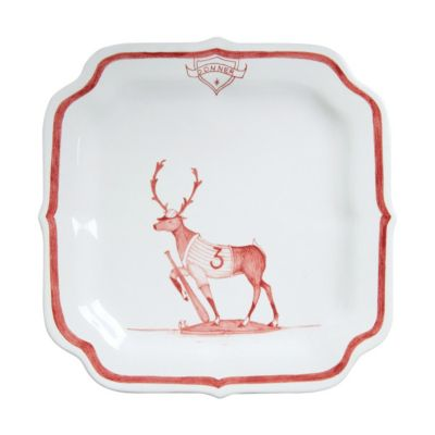 Juliska Country Estate Ruby Reindeer Games Party Plate - Donner