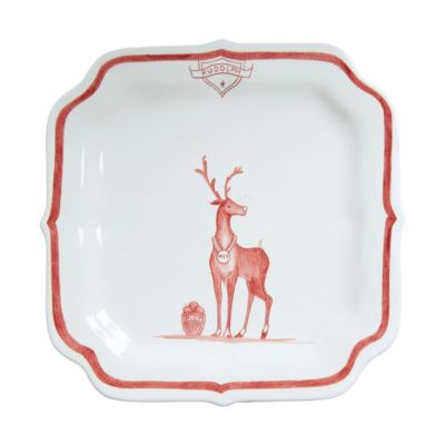 Juliska Country Estate Ruby Reindeer Games Party Plate - Rudolph