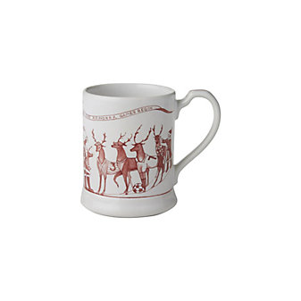 Juliska Country Estate Ruby Reindeer Games Mug