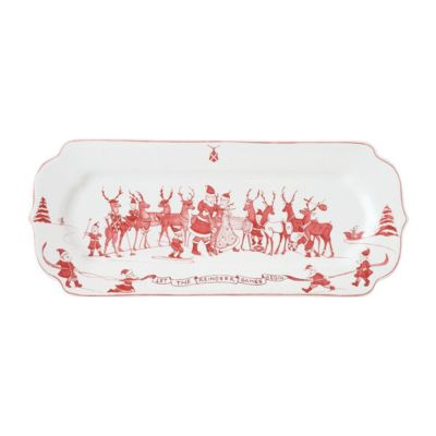 juliska country estate ruby reindeer games hostess tray