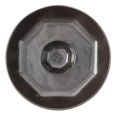 Juliska Pewter Stoneware Chip 'n Dip