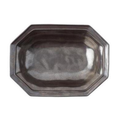 """Juliska Pewter Stoneware 12"""" Octagonal Serving Bowl"""