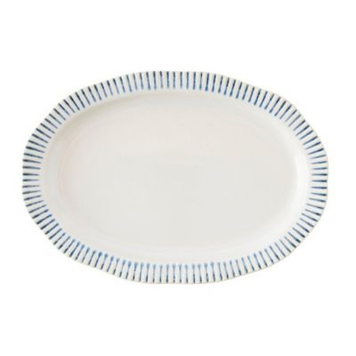 Juliska Sitio Stripe Indigo Dinnerware