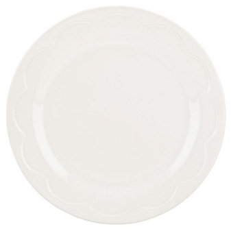 Kate Spade All In Good Taste Scalloped Cream Accent Plate