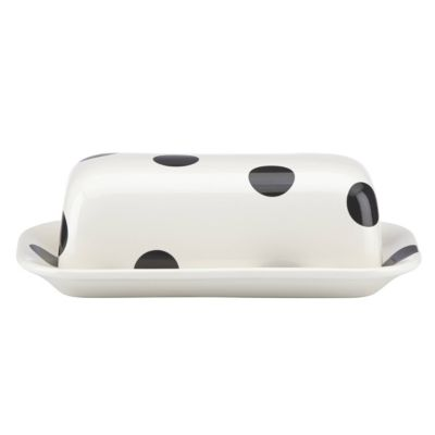Kate Spade Deco Dot Covered Butter Dish