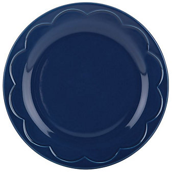 Kate Spade New York All in Good Taste Sculpted Scallop Navy 8.75' Plate