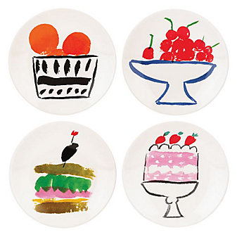 Kate Spade All In Good Taste S/4 Appetizer Plates