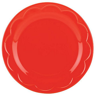 Kate Spade All In Good Taste Scalloped Red Accent Plate