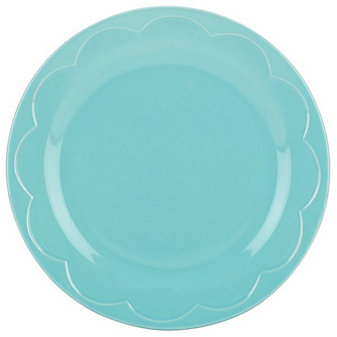 Kate Spade All In Good Taste Sculpted Scalloped Turquoise Accent Plate