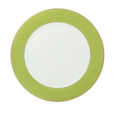 Pickard ColorSheen Green Gold Ultra White Dinnerware