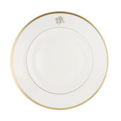 Pickard Signature Monogram Ivory with Gold Dinnerware