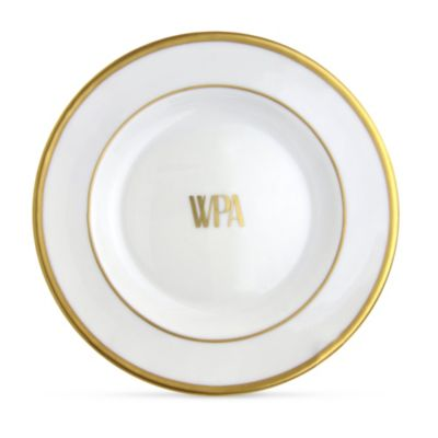 Pickard Signature White With Gold Bread And Butter Plate Monogrammed