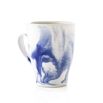 Simon Pearce Marble Indigo Mug