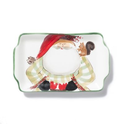 vietri old st. nick 2017 limited edition rectangular plate