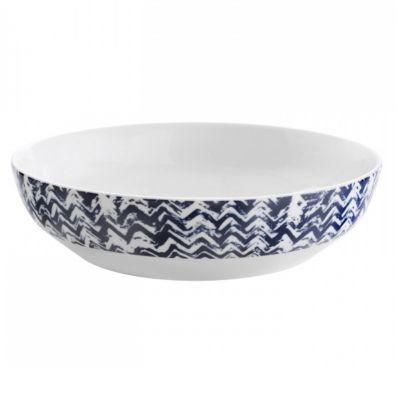 Vera Wang Simplicity Indigo Chevron Dinnerware