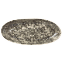 Wonki_Ware_Basketweave_Black_Large_Oblong_Platter