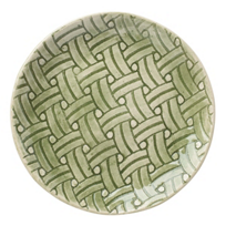 Wonki_Ware_Basketweave_Green_Accent_Plate