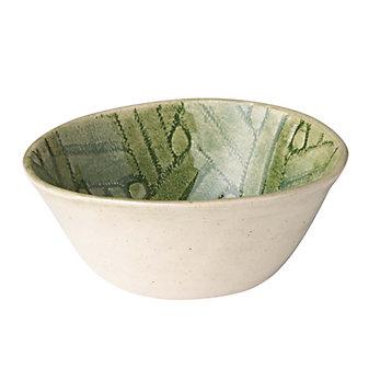 Wonki Ware Basketweave Green Ramekin