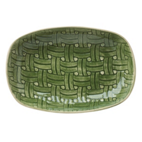 Wonki_Ware_Basketweave_Green_Medium_Snack_Plate