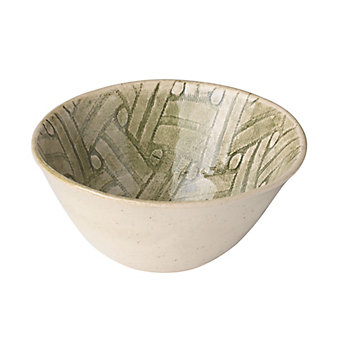 Wonki Ware Basketweave Green All Purpose Bowl