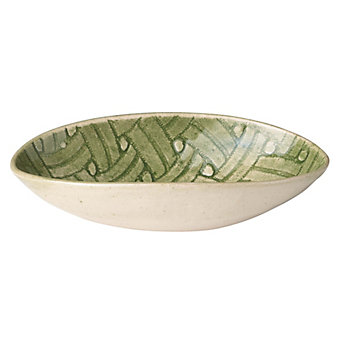 Wonki Ware Basketweave Green Small Organic Bowl