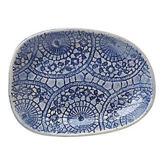 Wonki Ware Ferris Blue Salsa Plate