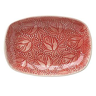 Wonki Ware Rosebud Red Snack Plate