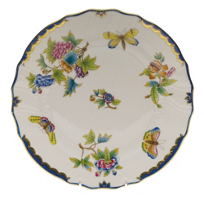 Herend_Queen_Victoria_Blue_Border_Dinnerware
