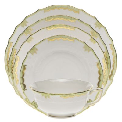 Herend_Princess_Victoria_Green_Dinnerware
