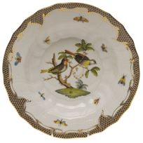 Herend_Rothschild_Bird_Brown_Border_Dinnerware