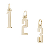 Rembrandt_14K_Yellow_Gold_Number_Charms