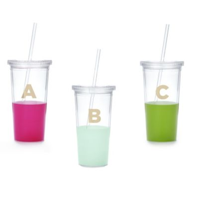 Kate Spade Dipped Initial Insulated Tumblers