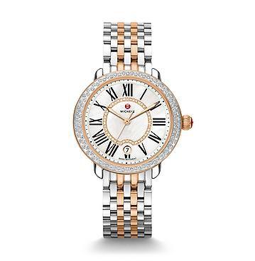 Michele_Serein_16_Diamond_Two-Tone_Rose_Gold_White_Dial_Watch