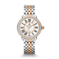 Michele_Serein_16_Diamond_Two-Tone_Rose_Gold_White_Dial_Watch