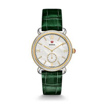 Michele_Gracile_Two-Tone_Diamond_Dial_Watch