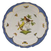 herend_rothschild_bird_blue_border_dinnerware