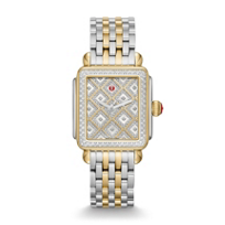 Michele_Deco_Two-tone_Diamond_Grid_Watch