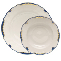 Herend_Princess_Victoria_Dark_Blue_Dinnerware