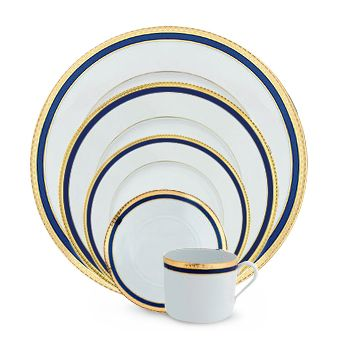 Haviland_Symphonie_Gold_and_Blue_Dinnerware