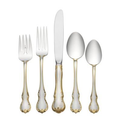 Towle_Gold_Accent_French_Provincial_Sterling_Flatware
