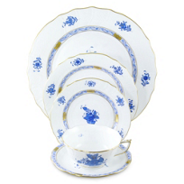 Herend_Chinese_Bouquet_Blue_Dinnerware