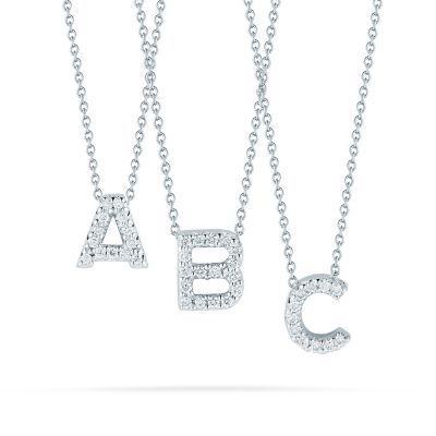 Roberto Coin 18K White Gold Diamond Love Letter Necklace