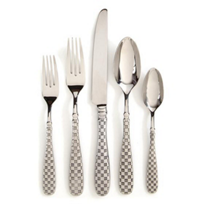 MacKenzie-Childs_Check_Flatware_-_5_Piece_Place_Setting