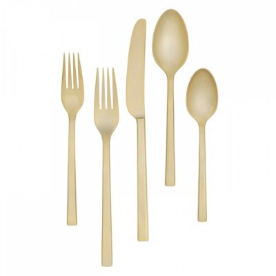 Vera Wang Polished Gold Flatware 5 Piece Place Setting